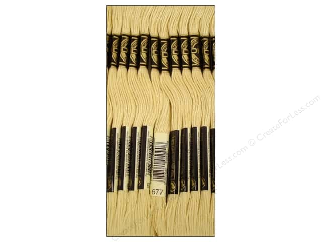 DMC Six-Strand Embroidery Floss #677 Very Light Old Gold (12 skeins)
