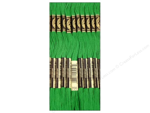 DMC Six-Strand Embroidery Floss #700 Bright Christmas Green (12 skeins)