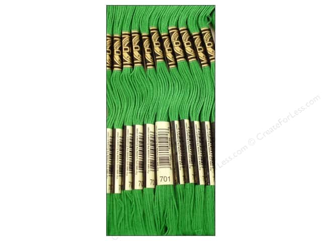 DMC Six-Strand Embroidery Floss #701 Light Christmas Green (12 skeins)