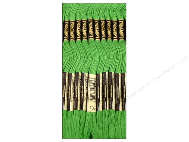 DMC Six-Strand Embroidery Floss #702 Kelly Green (12 skeins)