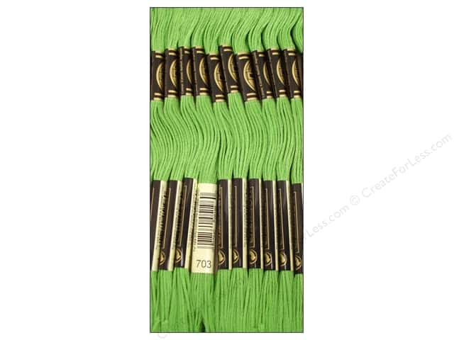 DMC Six-Strand Embroidery Floss #703 Chartreuse (12 skeins)