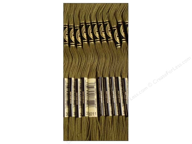 DMC Six-Strand Embroidery Floss #3011 Dark Khaki Green (12 skeins)