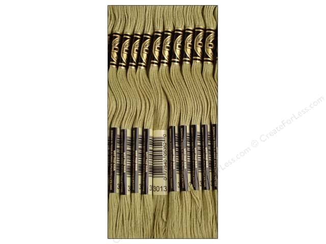 DMC Six-Strand Embroidery Floss #3013 Light Khaki Green (12 skeins)