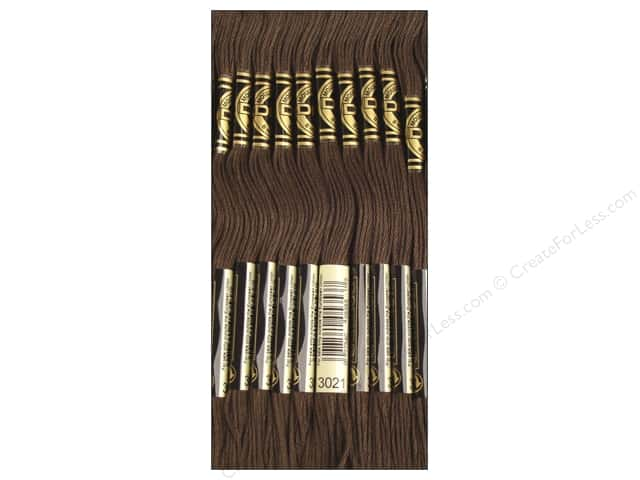 DMC Six-Strand Embroidery Floss #3021 Dark Brown Grey (12 skeins)