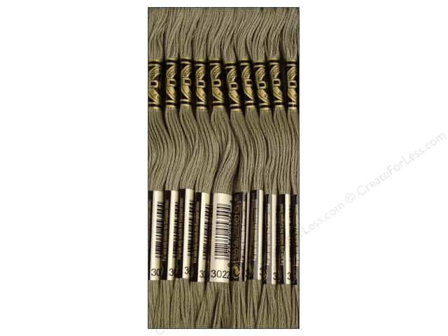 DMC Six-Strand Embroidery Floss #3022 Medium Brown Grey (12 skeins)