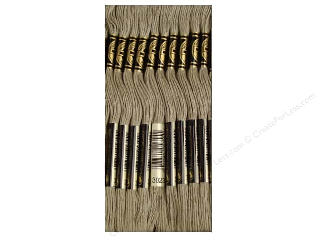 DMC Six-Strand Embroidery Floss #3023 Light Brown Grey (12 skeins)