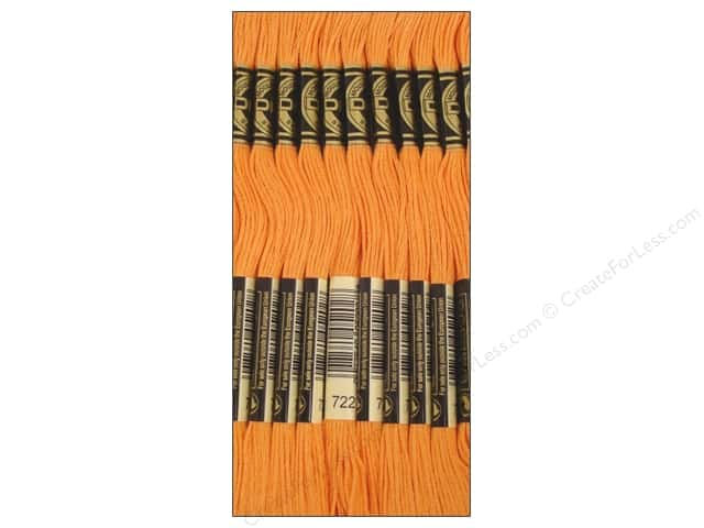 DMC Six-Strand Embroidery Floss #722 Light Orange Spice (12 skeins)