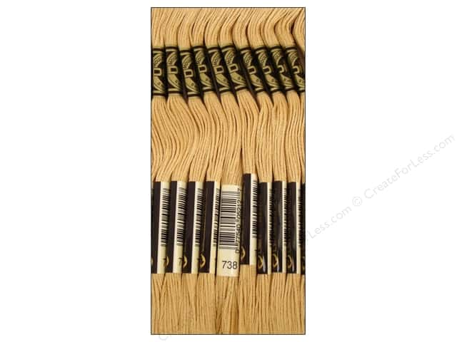 DMC Six-Strand Embroidery Floss #738 Very Light Tan (12 skeins)