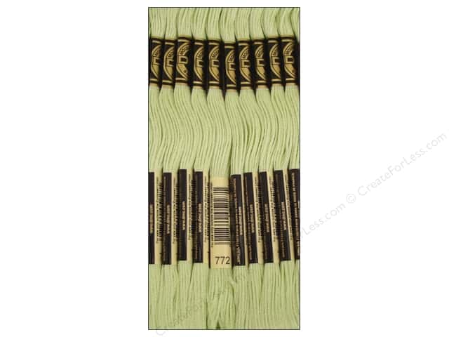 DMC Six-Strand Embroidery Floss #772 Light Pine Yellow Green (12 skeins)