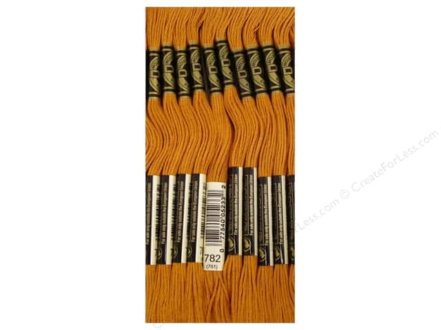 DMC Six-Strand Embroidery Floss #782 Dark Topaz (12 skeins)