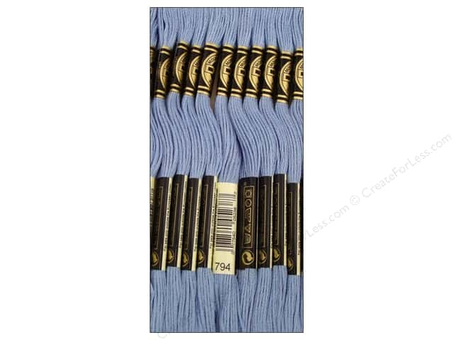 DMC Six-Strand Embroidery Floss #794 Light Cornflower Blue (12 skeins)