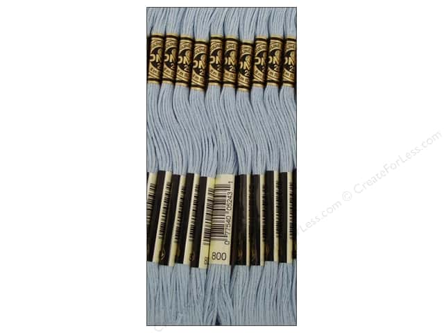 DMC Six-Strand Embroidery Floss #800 Pale Delft Blue (12 skeins)