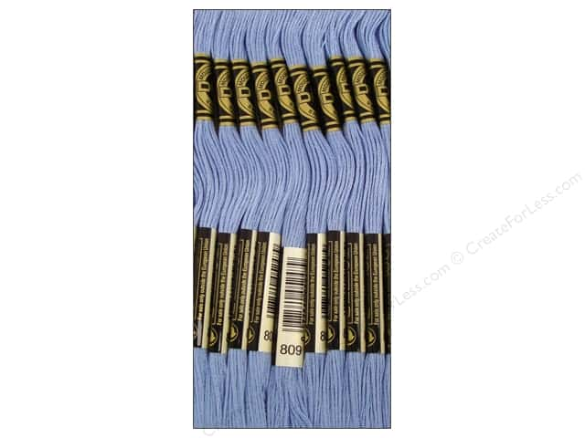 DMC Six-Strand Embroidery Floss #809 Delft Blue (12 skeins)