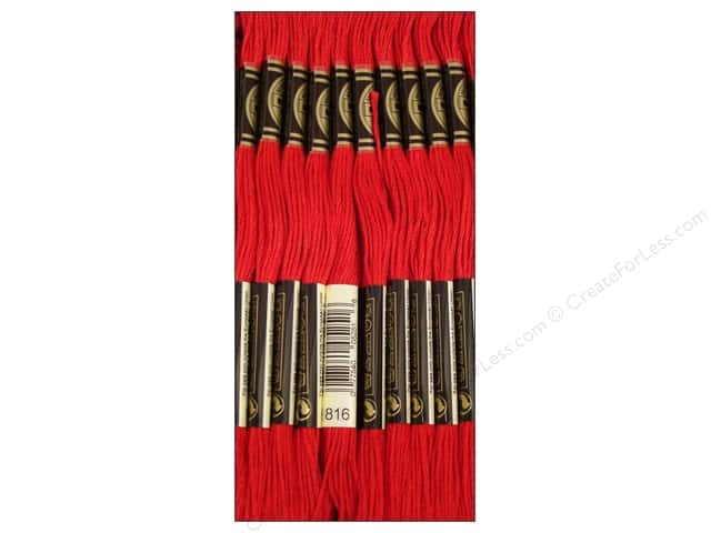 DMC Six-Strand Embroidery Floss #816 Garnet (12 skeins)