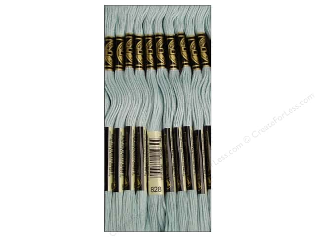 DMC Six-Strand Embroidery Floss #828 Ultra Very Light Blue (12 skeins)