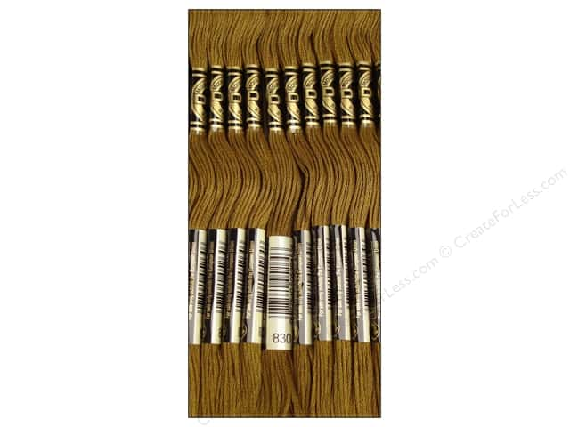 DMC Six-Strand Embroidery Floss #830 Dark Golden Olive (12 skeins)