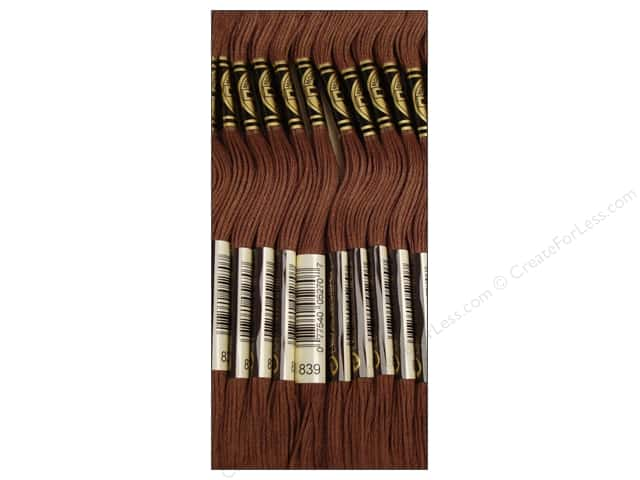 DMC Six-Strand Embroidery Floss #839 Dark Beige Brown (12 skeins)