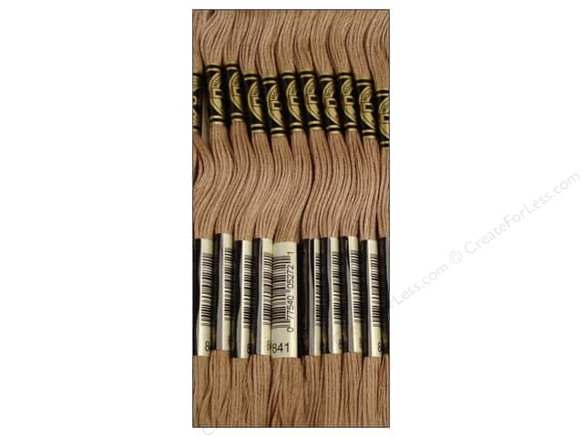 DMC Six-Strand Embroidery Floss #841 Beige Brown Light (12 skeins)