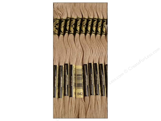 DMC Six-Strand Embroidery Floss #842 Very Light Beige Brown (12 skeins)