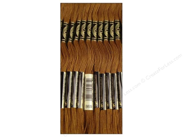 DMC Six-Strand Embroidery Floss #869 Very Dark Hazelnut Brown (12 skeins)