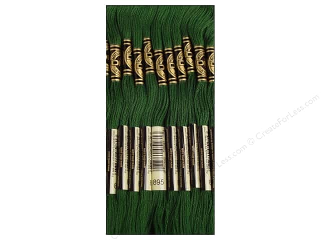DMC Six-Strand Embroidery Floss #895 Very Dark Hunter Green (12 skeins)