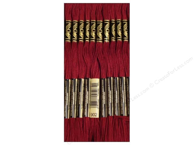 DMC Six-Strand Embroidery Floss #902 Very Dark Garnet (12 skeins)