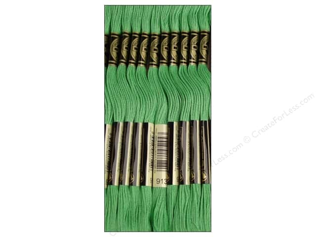 DMC Six-Strand Embroidery Floss #913 Medium Nile Green (12 skeins)