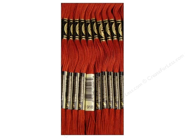 DMC Six-Strand Embroidery Floss #918 Dark Red Copper (12 skeins)