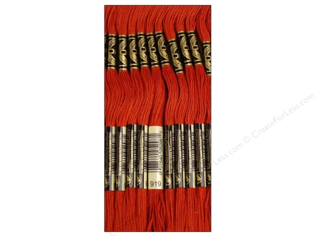 DMC Six-Strand Embroidery Floss #919 Red Copper (12 skeins)