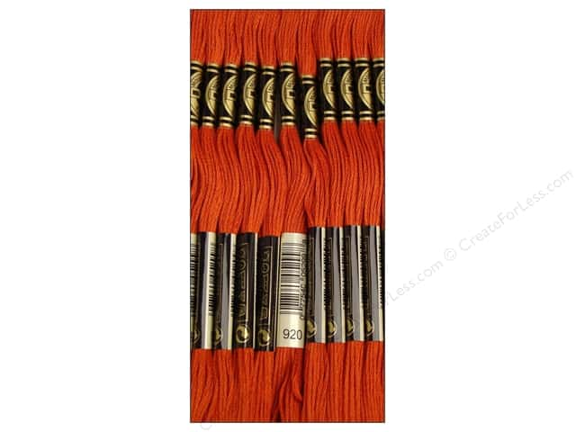 DMC Six-Strand Embroidery Floss #920 Medium Copper (12 skeins)
