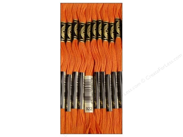 DMC Six-Strand Embroidery Floss #922 Light Copper (12 skeins)