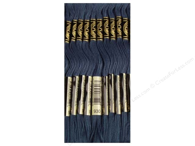 DMC Six-Strand Embroidery Floss #930 Dark Antique Blue (12 skeins)