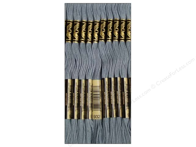 DMC Six-Strand Embroidery Floss #932 Light Antique Blue (12 skeins)