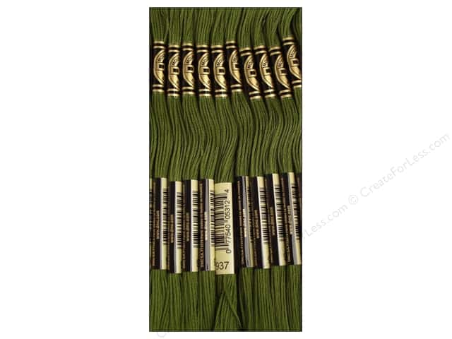 DMC Six-Strand Embroidery Floss #937 Medium Avocado Green (12 skeins)
