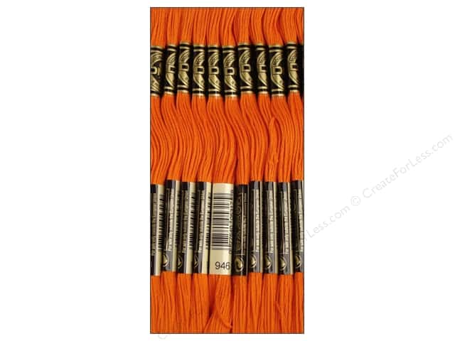DMC Six-Strand Embroidery Floss #946 Medium Burnt Orange (12 skeins)