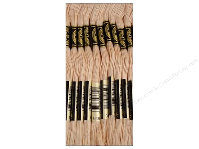 DMC Six-Strand Embroidery Floss #948 Very Light Peach Flesh (12 skeins)