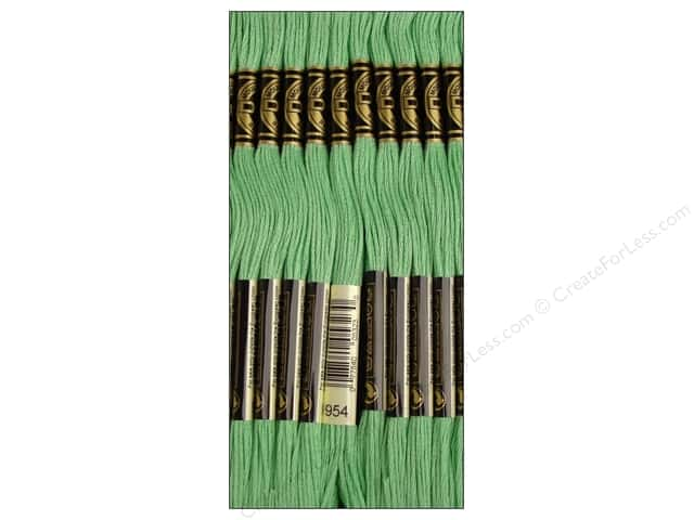 DMC Six-Strand Embroidery Floss #954 Nile Green (12 skeins)