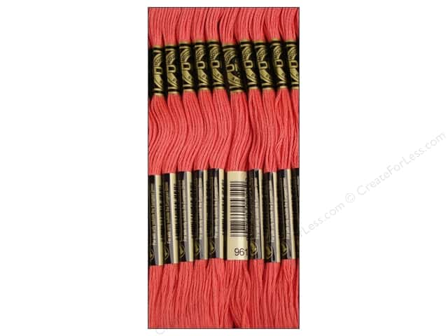 DMC Six-Strand Embroidery Floss #961 Dark Dusty Rose (12 skeins)