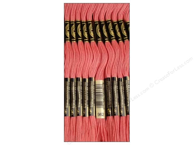 DMC Six-Strand Embroidery Floss #962 Medium Dusty Rose (12 skeins)