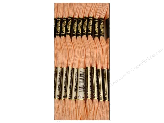 DMC Six-Strand Embroidery Floss #967 Very Light Apricot (12 skeins)
