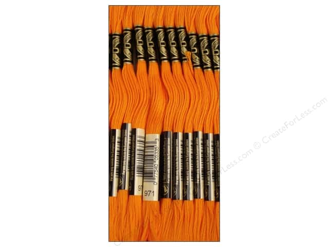 DMC Six-Strand Embroidery Floss #971 Pumpkin (12 skeins)