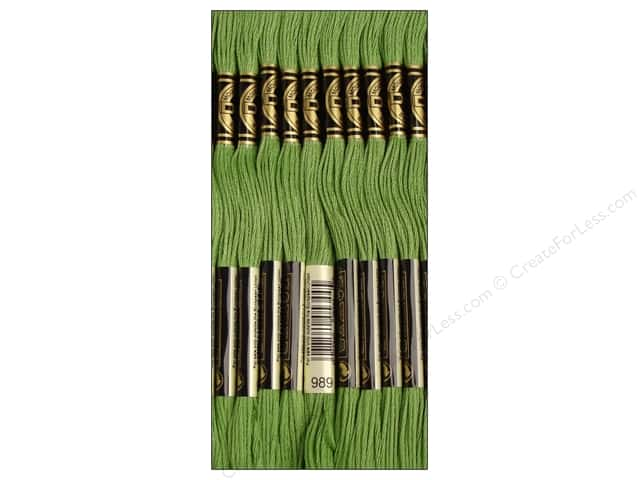 DMC Six-Strand Embroidery Floss #989 Forest Green (12 skeins)