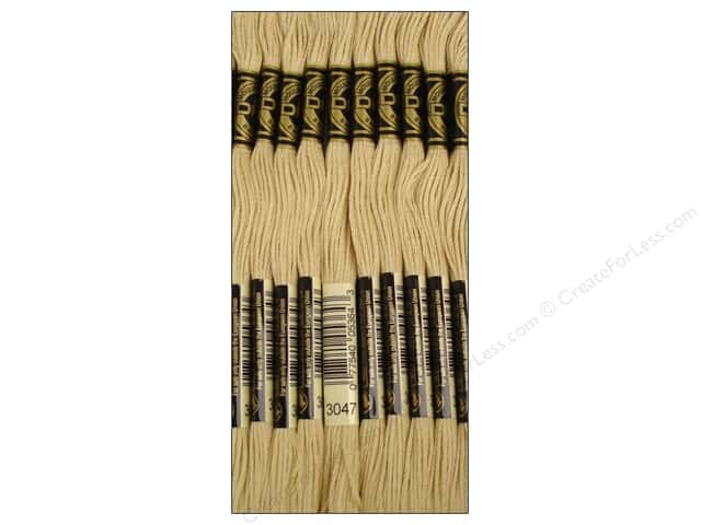 DMC Six-Strand Embroidery Floss #3047 Light Yellow Beige (12 skeins)