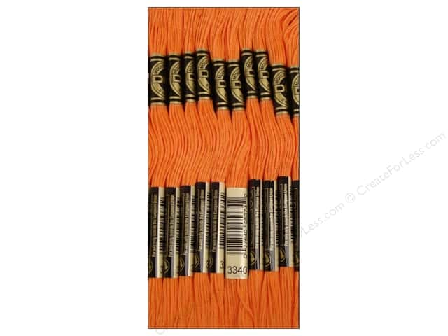 DMC Six-Strand Embroidery Floss #3340 Medium Apricot (12 skeins)