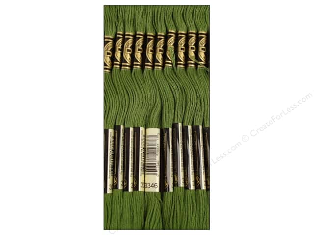 DMC Six-Strand Embroidery Floss #3346 Hunter Green (12 skeins)