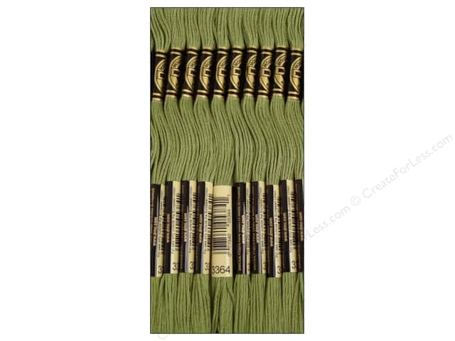 DMC Six-Strand Embroidery Floss #3364 Pine Green (12 skeins)