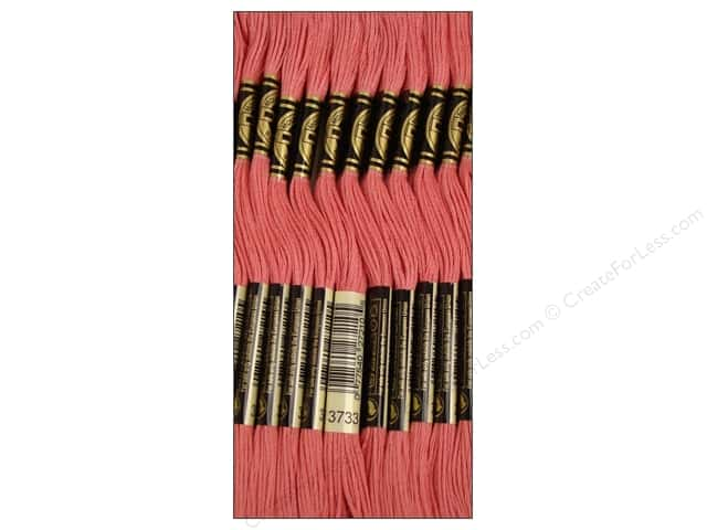 DMC Six-Strand Embroidery Floss #3733 Dusty Rose (12 skeins)