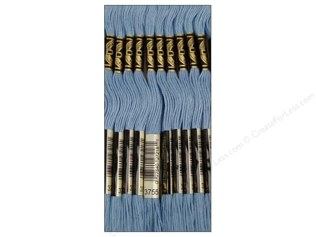 DMC Six-Strand Embroidery Floss #3755 Baby Blue (12 skeins)