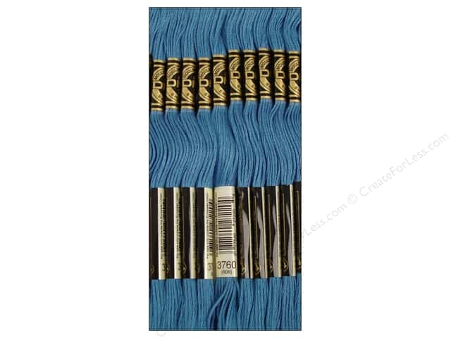DMC Six-Strand Embroidery Floss #3760 Wedgewood (12 skeins)