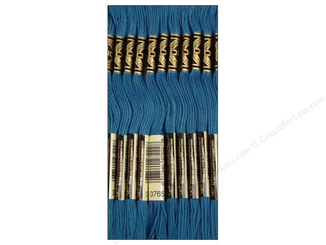 DMC Six-Strand Embroidery Floss #3765 Dark Peacock Blue (12 skeins)
